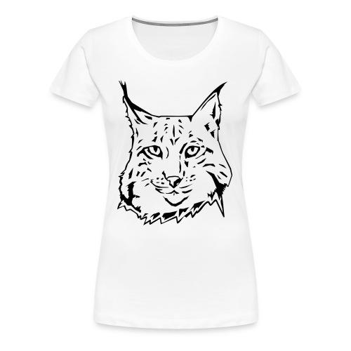 WOMEN'S LYNX WHITE T-SHIRT - Women's Premium T-Shirt