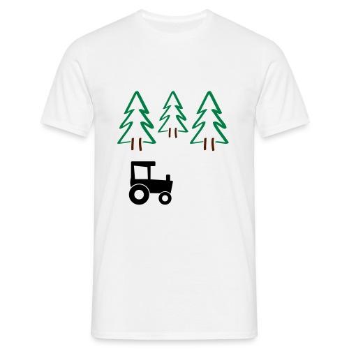 Traktor på skogstur - T-skjorte for menn