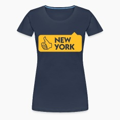 Jeansblå New York Thumbs Up (1c) T-shirts