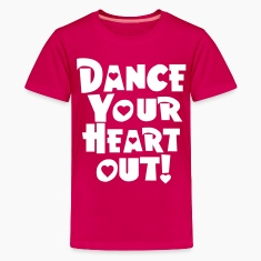 Pink dance your heart out Kids' Shirts