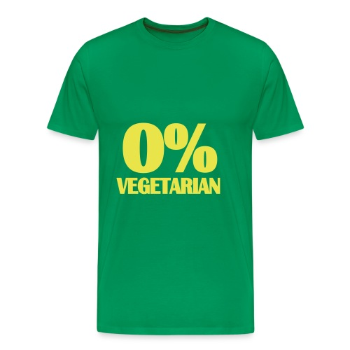 0% Vegetarian - Men's Premium T-Shirt