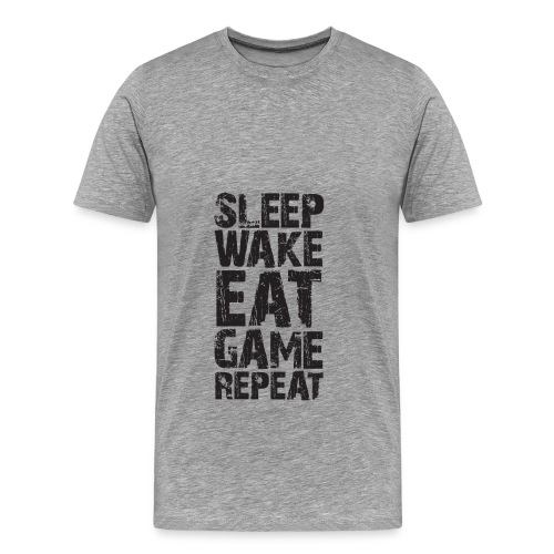 Sleep, wake, eat, game, repeat - Men's Premium T-Shirt