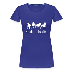 Womens 'Staff-a-holic' T-Shirt - Women's Premium T-Shirt