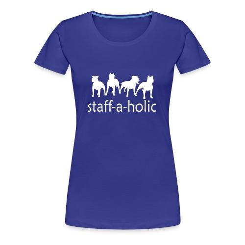 Womens 'Staff-a-holic' T-Shirt - Women's Premium T-Shirt