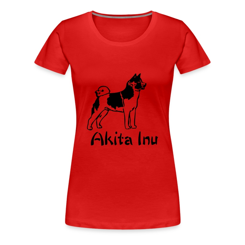 Womens Akita Inu T-Shirt - Women's Premium T-Shirt