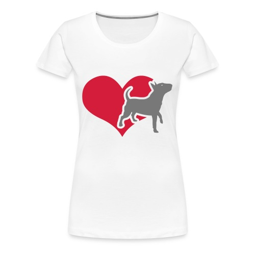 Womens Bully Heart T-Shirt - Women's Premium T-Shirt