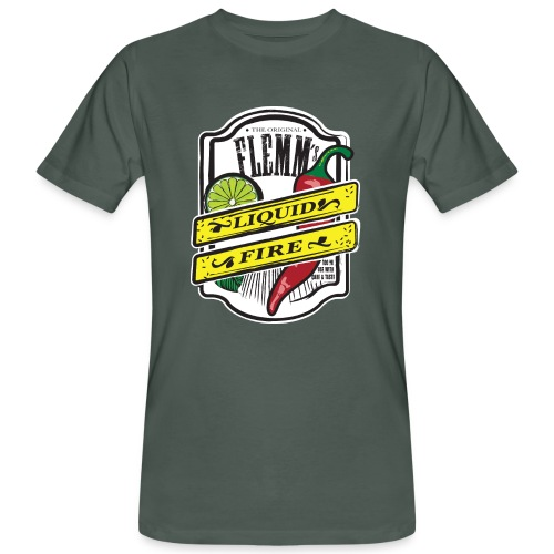 Liquid Fire eco t-shirt for men grey - Men's Organic T-Shirt