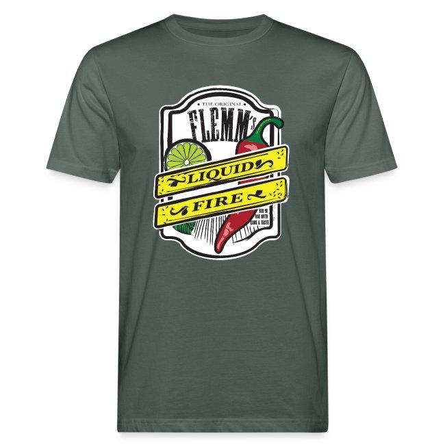 Liquid Fire eco t-shirt for men grey