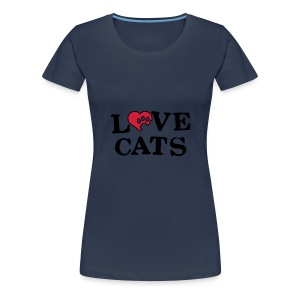 Womens 'Love Cats' T-Shirt - Women's Premium T-Shirt