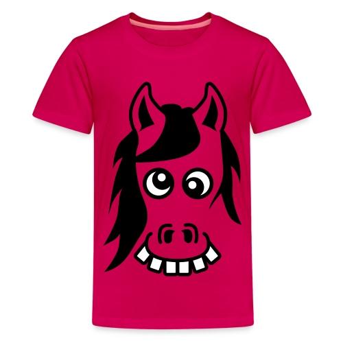 Crazy pony rose - T-shirt Premium Ado
