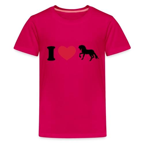 Kinder T-Shirt I Love Pferde - Teenager Premium T-Shirt