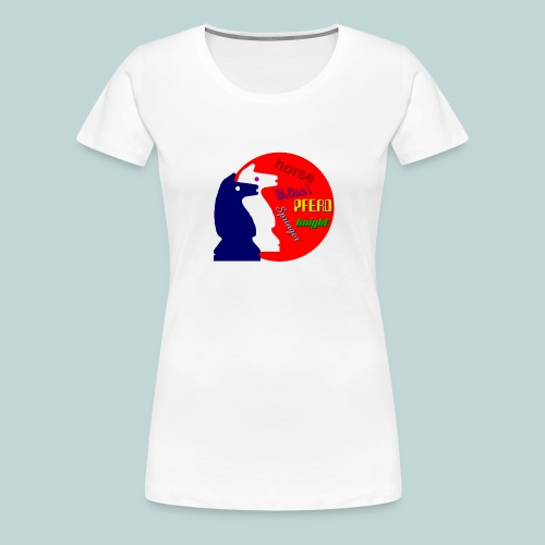 Pferdezwillinge - Frauen Premium T-Shirt