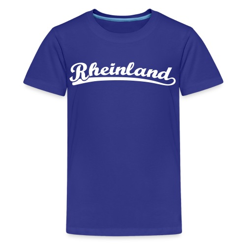 Rheinland Retro Schrift T-Shirt  - Teenager Premium T-Shirt