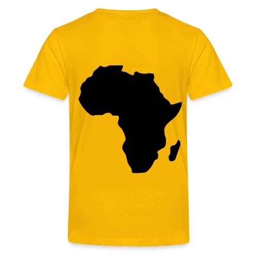 This Time for Afrika Shirt voor Finderen - Geel - Teenager Premium T-shirt
