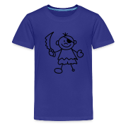 Türkis Sweet litle Pirate Kinder T-Shirts
