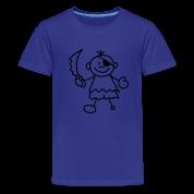 Türkis Sweet litle Pirate Kinder T-Shirts