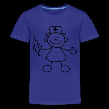 Turchese infermiera poco T-shirt bambini
