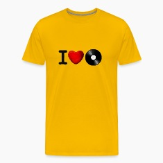 Yellow i ❤ love ilove 3d ich liebe i heart ❤ Men's T-Shirts