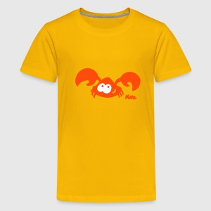 Gelb Krebs (2c) Kinder T-Shirts - Teenager Premium T-Shirt