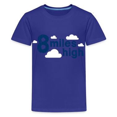 Cyan 8 Miles High Kids' Shirts