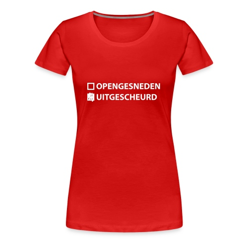 Dames Landmacht T-shirt Uitgescheurd - Vrouwen Premium T-shirt