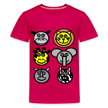 Pink zoo animals Kids' Shirts