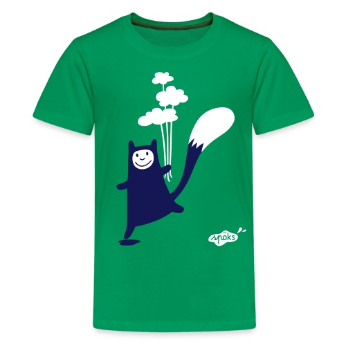 Katzling Kuno mit Wolken-Ballons - Teenager Premium T-Shirt