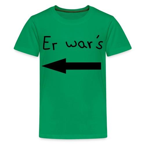 Kinder T-Shirt Er war´s - Teenager Premium T-Shirt