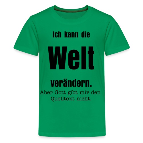 t-shirt, grün - Teenager Premium T-Shirt