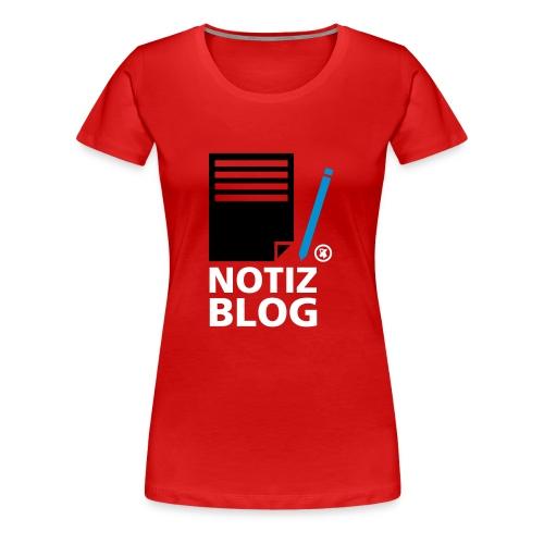 Frauen Girlieshirt Notiz Blog - Frauen Premium T-Shirt