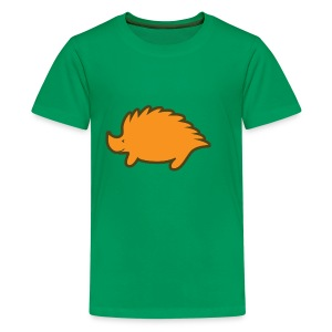 Children green t-shirt hedgehog - Teenage Premium T-Shirt