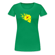 T-Shirts ~ Frauen Premium T-Shirt ~ Girls FlameSkull Shirt