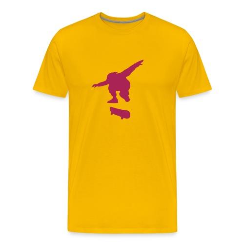 Skater Yellow n' Magenta - Men's Premium T-Shirt