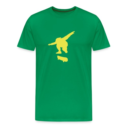 Skater Grass Green n' Yellow - Men's Premium T-Shirt