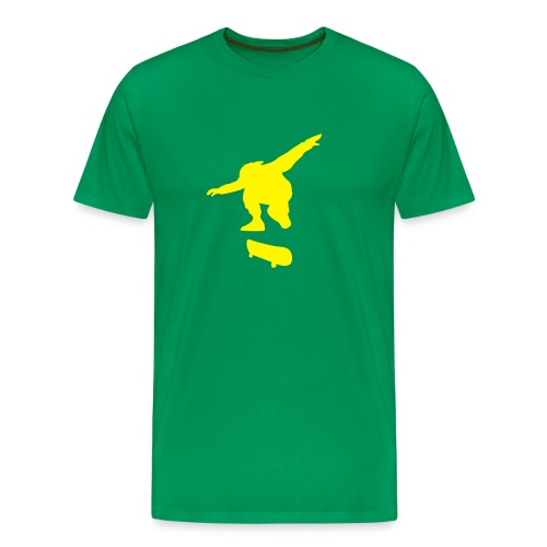Skater Flocky Grass Green n' Yellow - Men's Premium T-Shirt