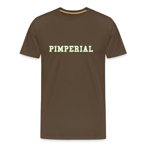 Pimp: Yeah, my shirt is glowing, what's your number, baby? Ltd. Edn. - Men's Premium T-Shirt
