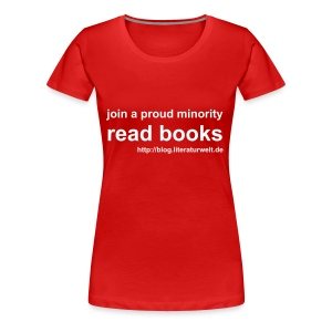 read books - Frauen Premium T-Shirt