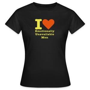 I love men - Vrouwen T-shirt