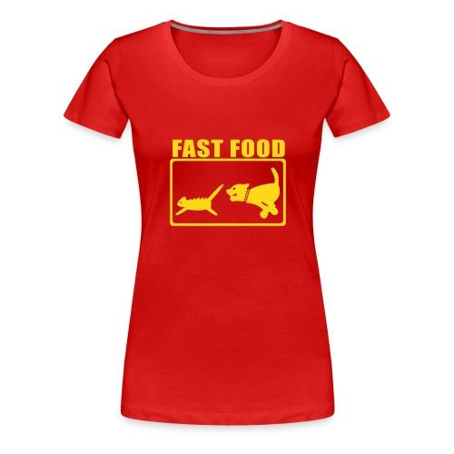 FAST FOOD - Women's Premium T-Shirt