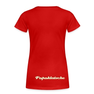 Popoklatsche Girl Back - Frauen Premium T-Shirt