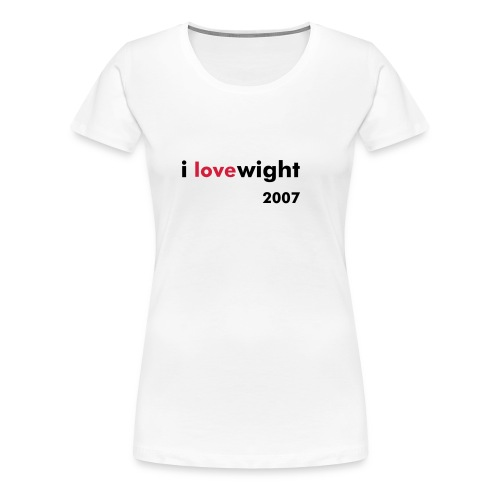 ILOVEWIGHT2007 - Women's Premium T-Shirt