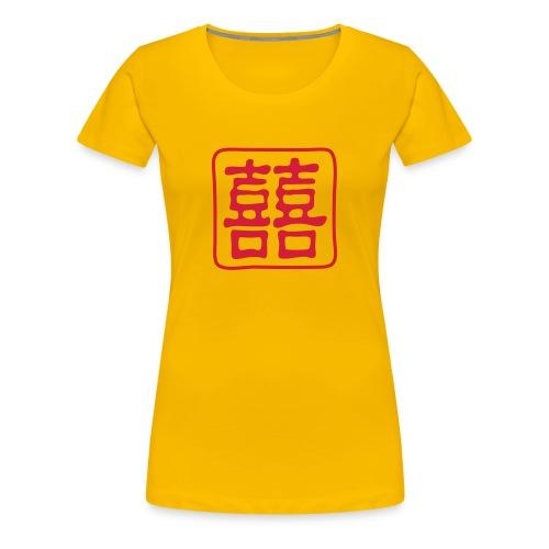 T-shirt Double Bonheur - T-shirt Premium Femme
