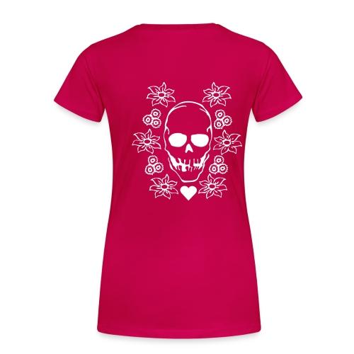 caostic skull pink - Premium-T-shirt dam
