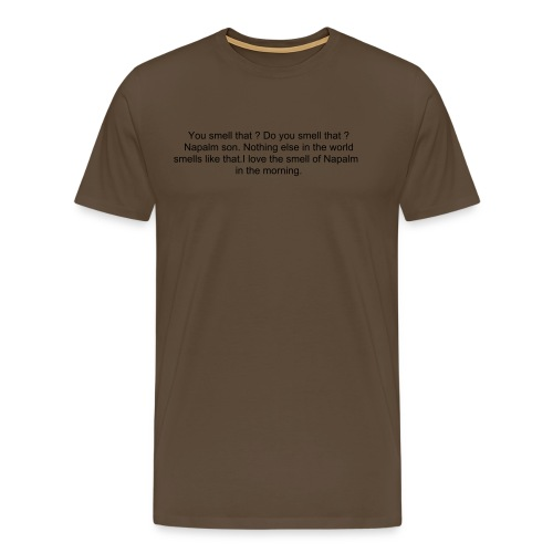 apoc black on brown - Men's Premium T-Shirt
