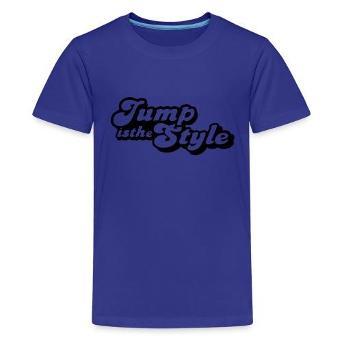 eigen tekst achter - Teenager Premium T-shirt