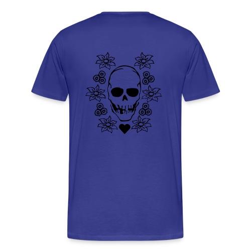 Flower Skull - Männer Premium T-Shirt