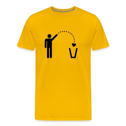 Omino cuore Adulto - Maglietta Premium da uomo