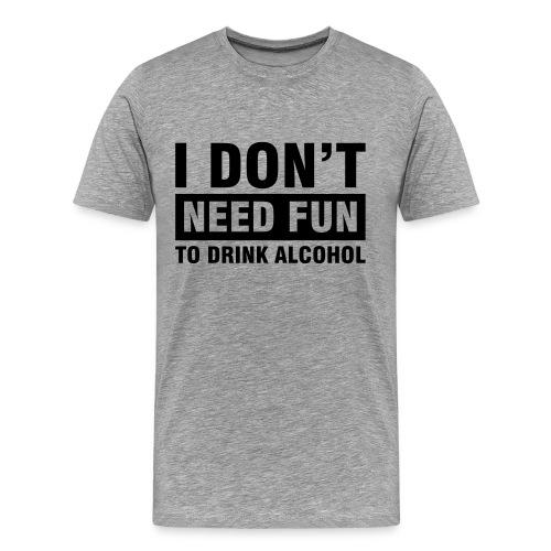 Ash Grey T-Shirt Alcho - Men's Premium T-Shirt