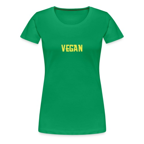 Green Vegan T - Women's Premium T-Shirt
