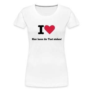 I Love... - Frauen Premium T-Shirt